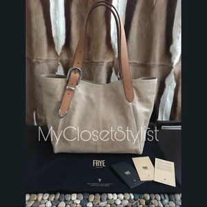 FRYE Italy Leather Shopper Tote RETIRED Jacqui NWT